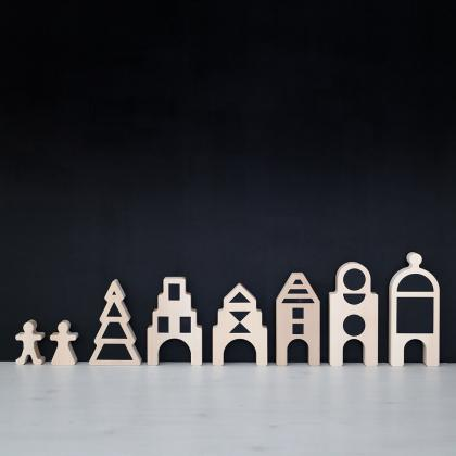 Ooh Noo® Lesena figurica Little Village Figurines