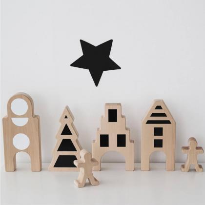 Ooh Noo® Lesena figurica Little Village House no. 3