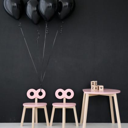 Ooh Noo® Otroška mizica Half-Moon Pink