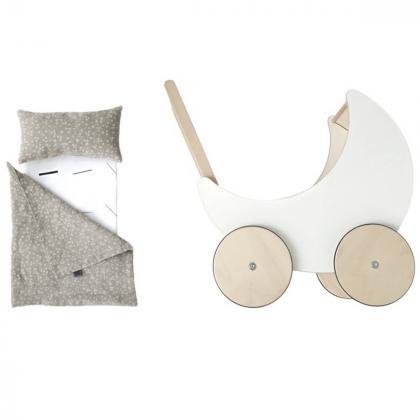 Ooh Noo® Posteljnina za otroški voziček za punčke Starry Night