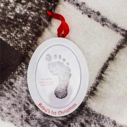Pearhead® Obesek Clean-Touch odtis s črnilom in slika Baby's 1st Christmas
