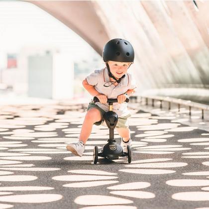 Scoot&Ride® Otroški poganjalec in skiro Highwaykick 1 Black Limited Edition