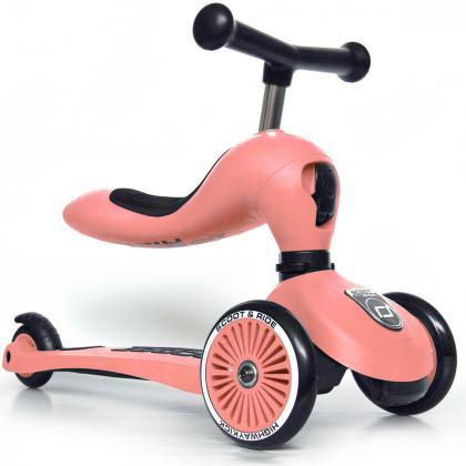 Scoot&Ride® Otroški poganjalec in skiro Highwaykick 1 Peach