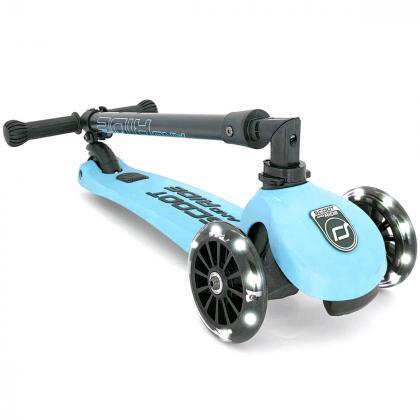 Scoot&Ride® Otroški skiro Highwaykick 3 LED Blueberry