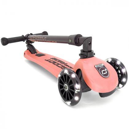 Scoot&Ride® Otroški skiro Highwaykick 3 LED Peach