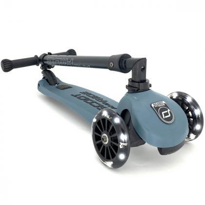 Scoot&Ride® Otroški skiro Highwaykick 3 LED Steel