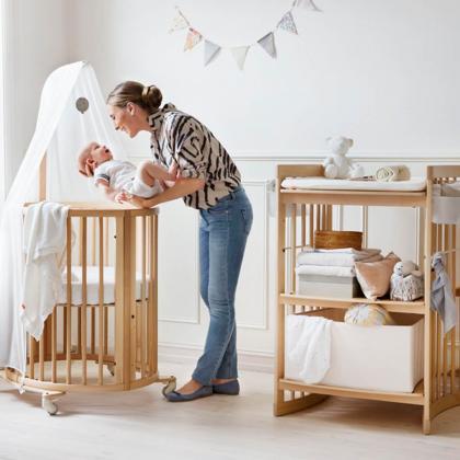 Stokke® Otroška posteljica Sleepi™ Mini z vzmetnico Natural