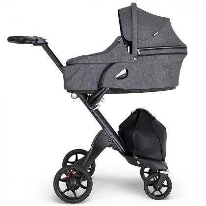Stokke® Otroški voziček Xplory® V6 Black Melange/Black Handle