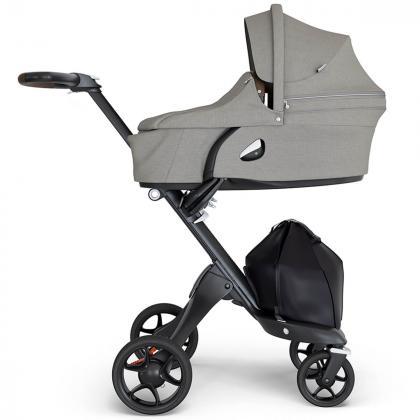 Stokke® Otroški voziček Xplory® V6 Brushed Grey/Brown Handle