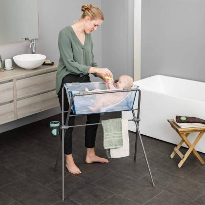 Stokke® Set otroške banjice in podpore za novorojenčka Flexi Bath® Transparent Pink