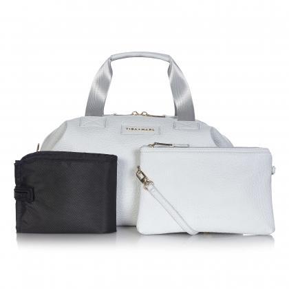 Tiba+Marl® Previjalna torba Raf Holdall Faux Pale Grey