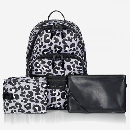 Tiba+Marl® Previjalni nahrbtnik Elwood Nylon Mono Leopard