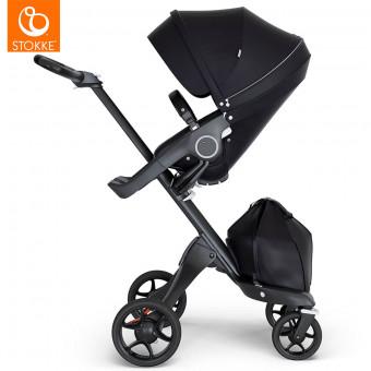 Stokke® Otroški voziček Xplory® V6 Black/Black Handle